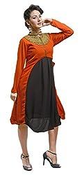 Viva N Diva womens orange color kurti.