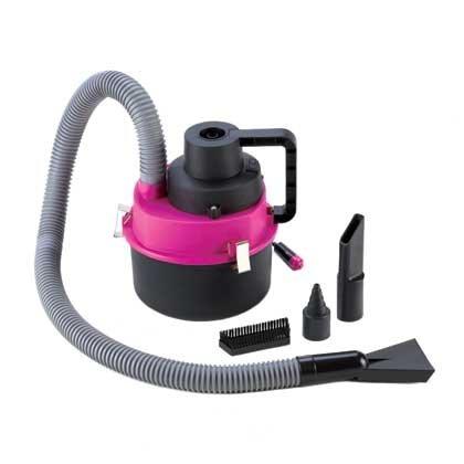 Portable Wet & Dry Auto Vacuum Cleaner Pink/Black