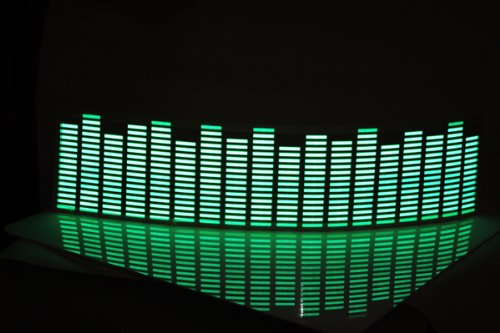 Koolertron 45x11cm Sound music Activated Car Stickers Equalizer Glow Green for cars
