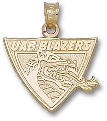 Alabama (Birmingham) Blazers UAB Blazers Dragon Head Pendant - 14KT Gold Jewelry by Logo Art