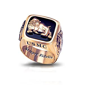 USMC Semper Fi Marine Corps Men's Ring by The Bradford Exchange