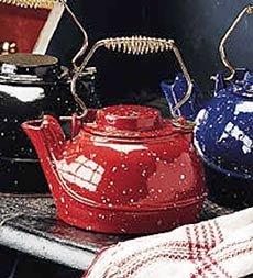Cheap 5 Quart Cast Iron Tea Kettle-Red (B0009JJBL6)