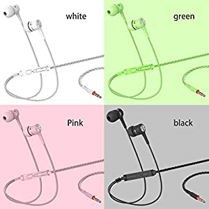 A12 Headphones Earphones Earbuds Earphones, Noise Islating, High Definition, Stereo for Samsung, iPhone,iPad, iPod and Mp3 Playersï¼?Black, White