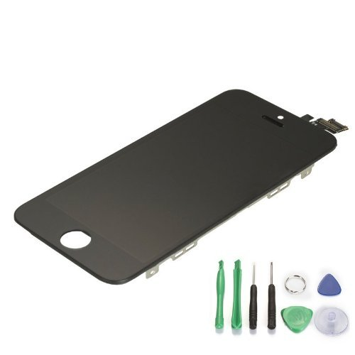 Lowest price for Generic Black LCD Touch Screen Digitizer Frame Assembly Replacement for iPhone 5 5G Mustpoint (Black)