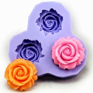 2.9cm Flower F0130 Fondant Mold Silicone Sugar mini mold Craft Molds DIY Cake Decorating at Amazon.com