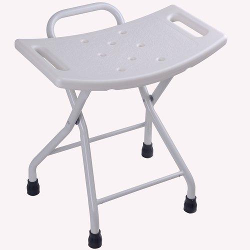 Mega Brands Non-slip Folding Shower Chair Bath Stool Seat Tub Bathroom Bathtub Bench Medical
