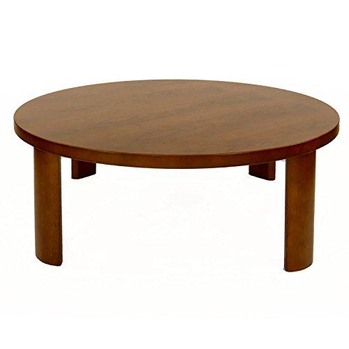 ウォールナットテーブル (W80 座卓 丸80, ブラウン)