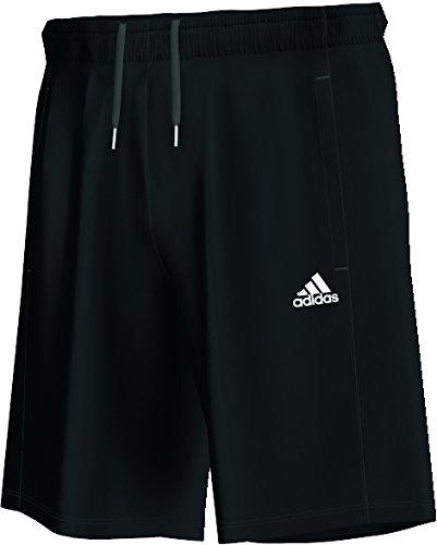 Adidas, Pantaloni corti sportivi Uomo Essentials, Nero (Black/White), L