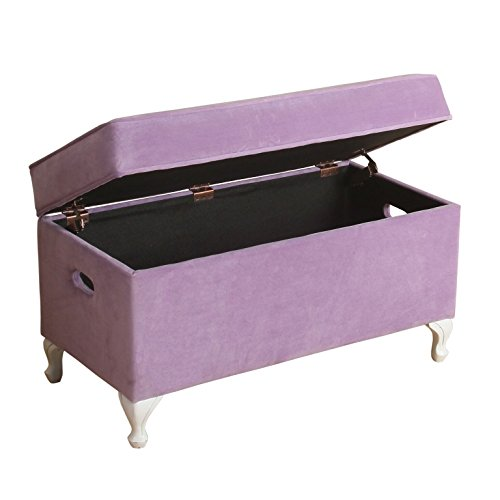 Kids storage contemporary modern diva purple hinged lid decorative kids storage bench 32 w x Purple storage bench
