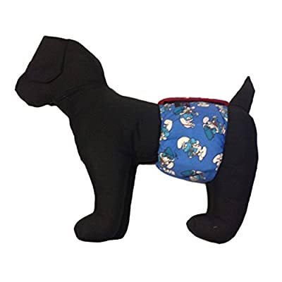 Barkerwear Male Dog Diaper - Washable Belly Band Male Wrap made from Smurf Fabric for Housebreaking, Male Marking and Incontinence