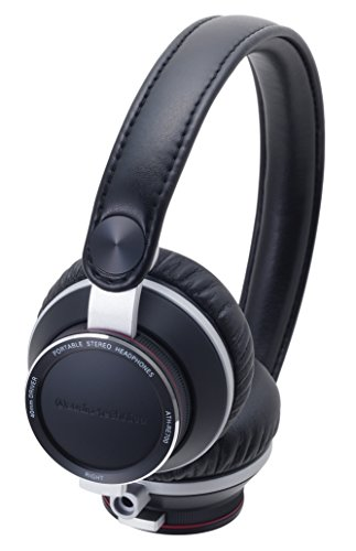 Audio Technica ATHRE700 BK On-Ear Headphones, Black