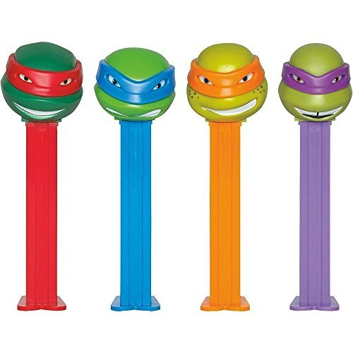 Teenage Mutant Ninja Turtles Pez Dispenser and Candy Set (1 PEZ) Action Figure
