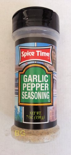 Garlic Pepper Seasoning By Spice Time Spices & Herbs 7 Oz... Mtc