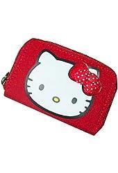 Sanrio Hello Kitty Red Zip Around Wallet- Red Polka Dot Bow, Polka Dot Design