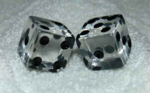 New Clear Transparent Dice Pair