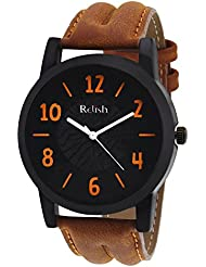 Relish Casual Tan Leather Strap Men's Watch RELISH-535