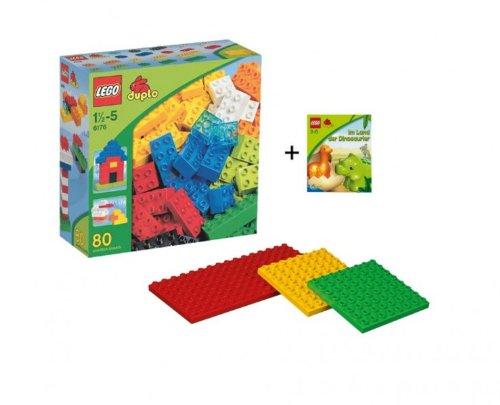 Lego Duplo 6176 Grundbausteine 4632 Bauplatten-Set und Minibuch