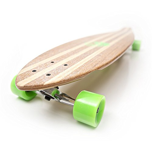 Lowest Price! White Wave Pintail Bamboo Longboard Skateboard (40 inches)
