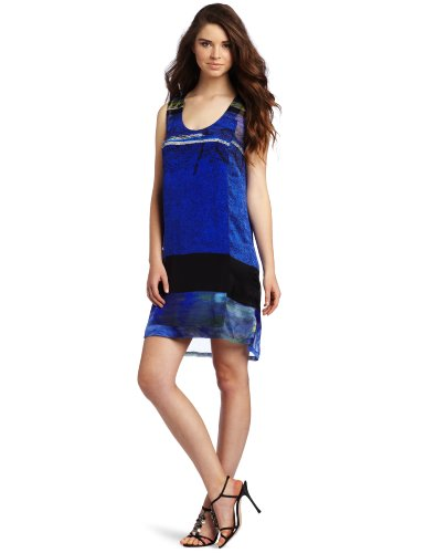 Cluny Women's Panel Front Dress, Cobalt Multi, 8