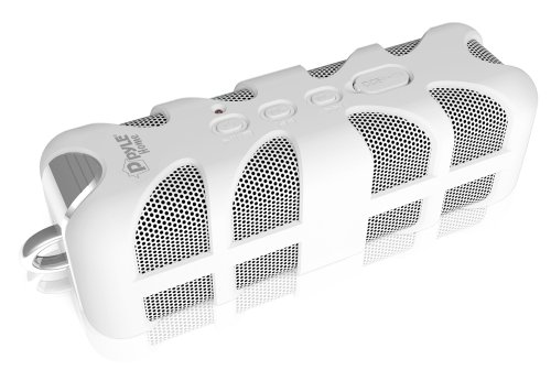 Pyle Pwpbta70Wt Sound Box Splash Rugged And Splash-Proof Bluetooth Marine Grade Portable Wireless Speaker (White)