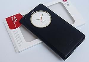 ECellStreet Exclusive LG G3 D850/D851/D855 Quick Circle Case Sensor Window Leather Flip Folio Case Cover Flip Cover Diary Case Dashing Black