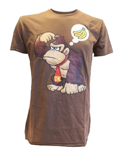 T-Shirt 'Donkey Kong wants Banana' [braun, L] [German