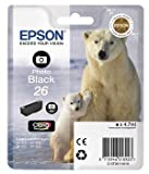 Epson 26 / T2611 Photo Black Original Printer Ink Cartridge for Epson XP-600 XP-605 XP-700 XP-800