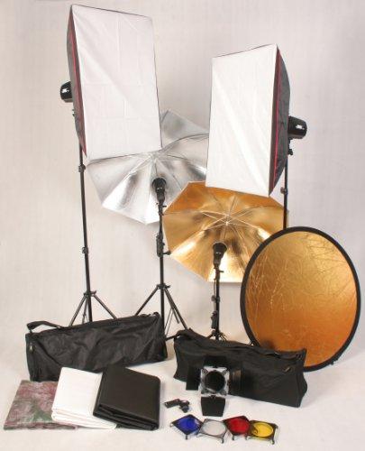 Complete JPZ 4 monolights strobes studio lighting system