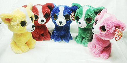 Tys Beanie Boos COMPLETE Set Toy Fair Trade Show EXCLUSIVES T BoneTomatoDandelionDill And Pashun DOGS New With All Tags