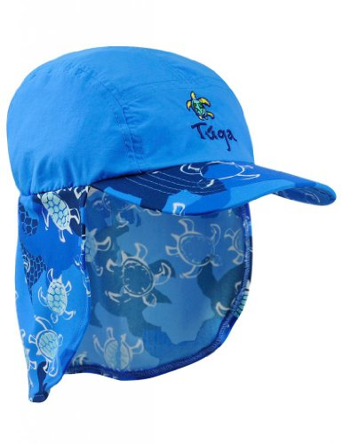 Tuga Boys Flap Hat (Upf 50+), Sapphire, Small front-506178