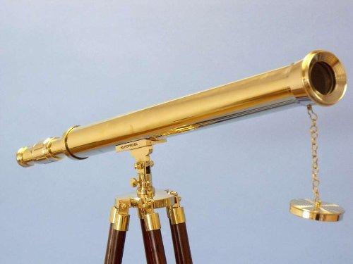 """Brass Floor Standing Harbor Master Telescope 60"""", Decorative Telescope, Ships Telescope, Marine Telescope, Decorative Telescopes, Nautical Telescope"""