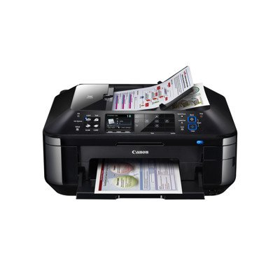 Canon PIXMA MX882 Inkjet Multifunction Printer - Color - Photo Print - Desktop - Printer, Copier, Scanner, Fax - 12.5ipm Mono/9.3ipm Color Print (ISO) - 20 Second Photo - 9600 x 2400dpi Printipm Mono/6.7ipm Color Copy (ISO) - 2400dpi Optical Scan - 300 sheets Input - Ethernet - Wi-Fi - PictBridge
