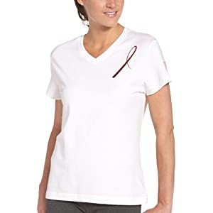 Reebok Women&#8217;s Avon Foil Ribbon Tee (White, Large)