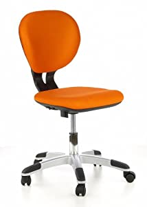 Hjh office billy kid 670240 children 39 s office swivel chair for Orange kids chair