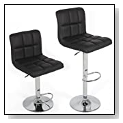 Chic Contemporary Adjustable Bar Stools