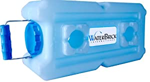 WaterBrick 1833-0001 Stackable Water and Food Storage Container, 3.5 gal of Liquid, 27 lb of Dry Food Products, Blue