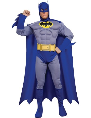 Batman Brave Dlx-Muscle Adult Costume Sm Adult Mens Costume