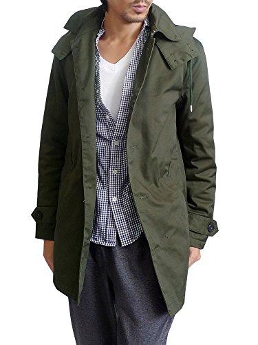 (ガルバナイズ) Galvanize コート メンズ ショップコート 中綿入り ステンカラーコート アウター フード 2WAY