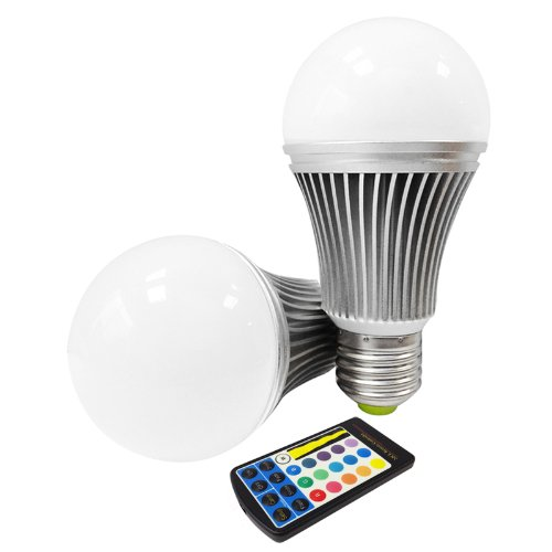 Miniwatts E27 6W Rgb Colour Changing Led Globe Light Bulb With Memory Capacity