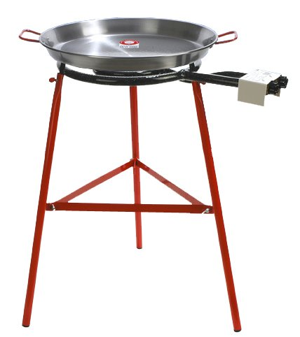 Paella Pan + Paella Burner and Stand Set - Complete Paella Kit (Large Paella Pan compare prices)