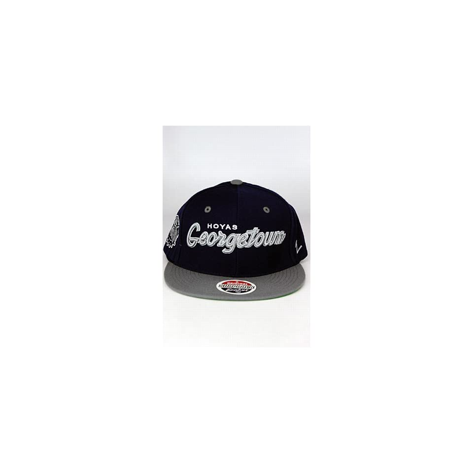 buy popular a2fff 7c38f NCAA Georgetown Hoyas Headliner 2Tone Snapback Cap, Navy