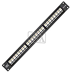 MX 24 PORT Cat 5e PATCH PANEL WITH IO WITHOUT SHUTTER WITH CABLE MANAGEMENT SYSTEM MX-3498