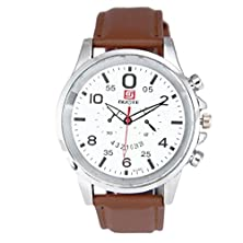 buy Men Leather Band Analog Quartz Business Wrist Watch