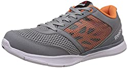Reebok Womens Cardio Low Grey, Orange and White Multisport Training Shoes - 4 UK