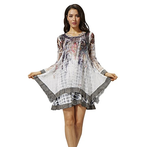 sybell-las-mujeres-de-moda-de-manga-larga-vestido-ocasional-de-la-blusa-superior-con-chaleco-pv-a160