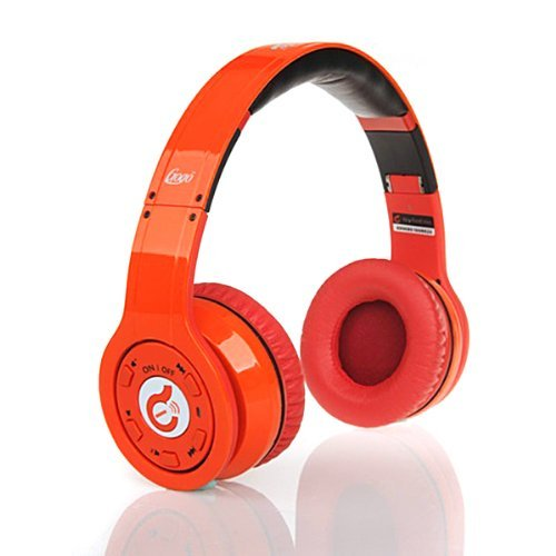 2014 New Syllable® Wireless Bluetooth Headphone With Retractable And Foldable Design, Noise Cancelling Function Orange For Pc Laptop Iphone 5S Ipad Ipod Smartphone Htc One Samsung Galaxy S5 Motorola Moto Gor Any Other Device That Has Bluetooth Capability+
