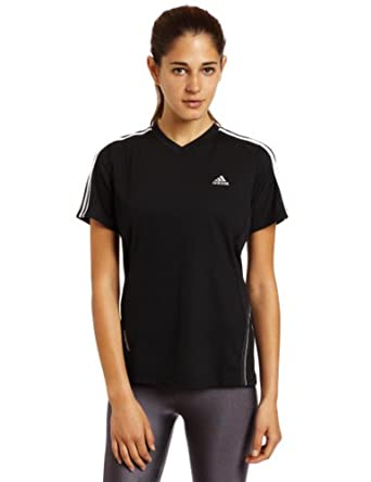 adidas Women's Response DS Short-Sleeve Tee, Black/White/Light Onyx, X-Small