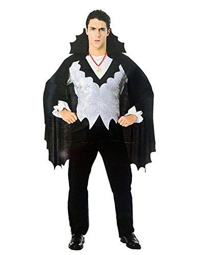 HDE Gothic Blood Thirsty Count Dracula Vampire Halloween Costume Bat Wing Cape