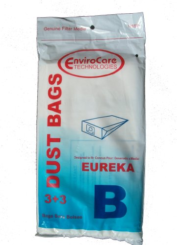 9 Eureka B & S Allergy Canister Vacuum Bags + 9 Filters, 1700 3700, Powerteam Series Vacuum Cleaners, 52329, 52329A-6, 52329-12, 54922-10, 1700 And 3700, 1780A front-157920