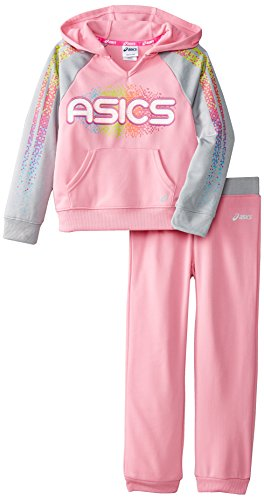 ASICS Little Girls' 2 Piece Rainbow Set, Sachet Pink, 6X